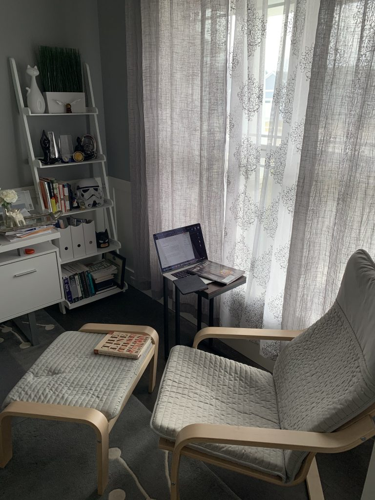 A view of my reading nook